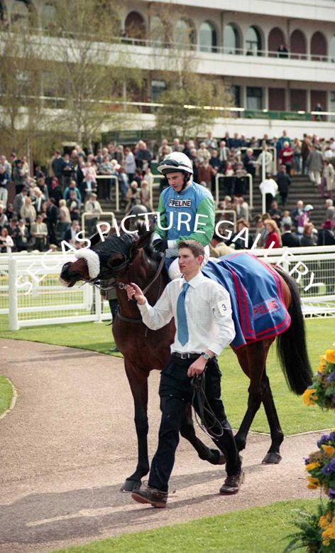 Racehorse Wahiba Sands with Jockey Jamie Moore